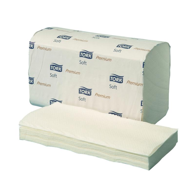 Tork 100278 Premium Classic Towel 2 Ply White Folded