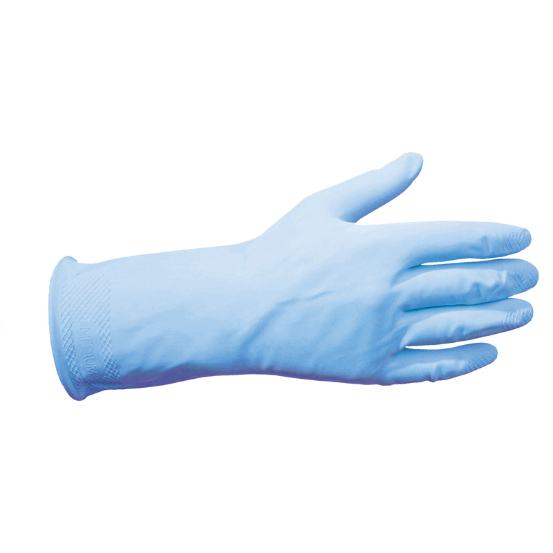 Household Rubber Glove Blue Pair Medium Disposable