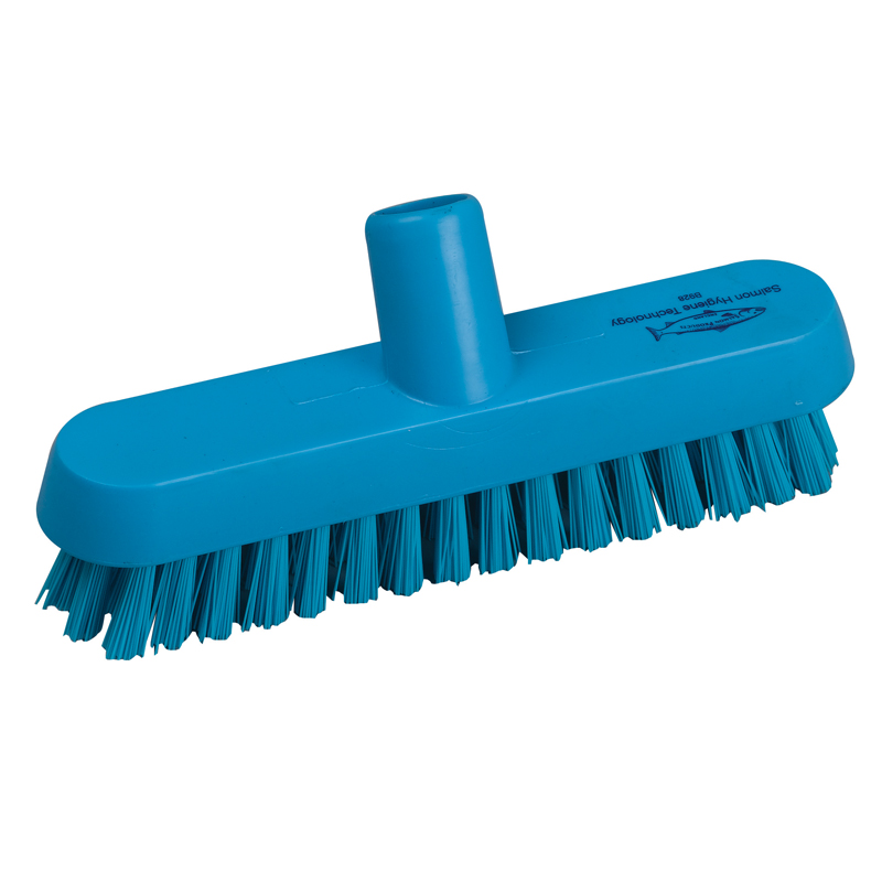 Deck Scrub Head 23cm B928b Blue Hygiene Brushware