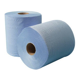 Blue Towel Roll 2 ply embossed 150m - 012710