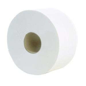 Mini Jumbo Toilet Roll 2 ply white 150m, 60mm core - 013110
