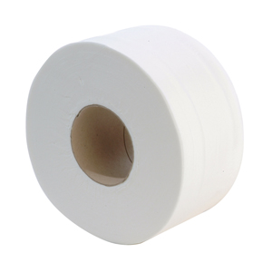 Mini Jumbo Toilet Roll 2 ply white 150m, 76mm core - 013120