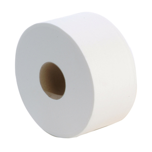 Mini Jumbo Toilet Roll 2 ply white 200m, 60mm core - 013130