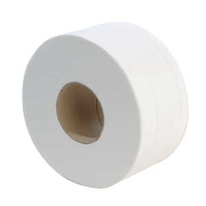 Mini Jumbo Toilet Roll 2 ply white 200m, 76mm core - 013140