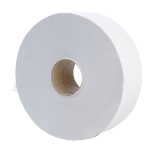 Jumbo Toilet Roll 2 ply white 300m, 76mm core - 013220