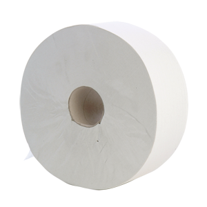 Jumbo Toilet Roll 2 ply white 400m, 60mm core - 013230