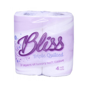 Bliss Triple Quilted Toilet Roll 3 ply white luxury - 013470