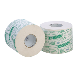 Ecosoft 616 2 ply toilet roll, 625 sheets - 013600