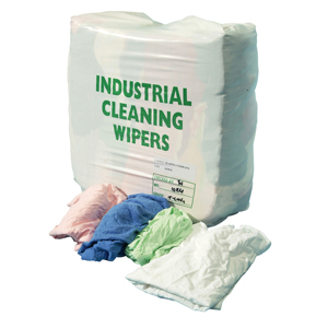 Selected White Wiper Rags 10kg bag - 019060