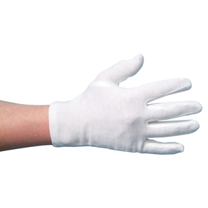 Low Lint Cotton Glove white pairs, mens - 046155