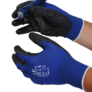 Lite Handling Glove blue/black pair L - 046303