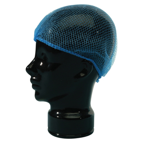 Hair Nets Fine, blue - metal detectable. - 048052