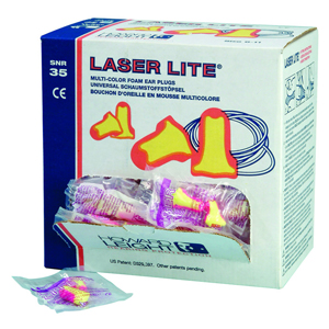 Laser-Lite Ear Plugs - corded pair (SNR35) - 048431