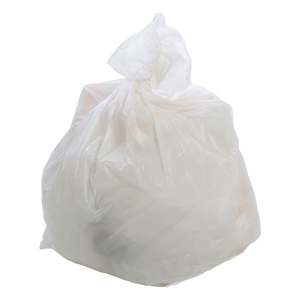 Square Bin Liner heavy duty white - 071206