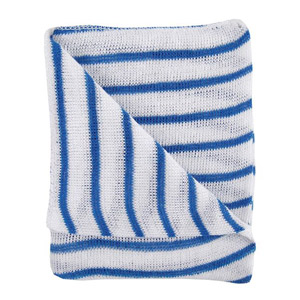 Stockinette Dishcloths blue stripe - 072022