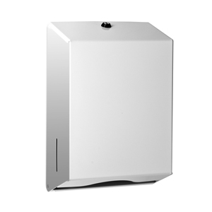 Dispenser for hand towels white metal - 092606