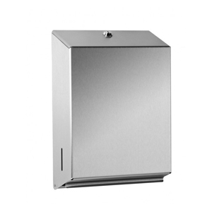 Dispenser for hand towels brushed s/steel - 092608