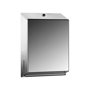 Dispenser for hand towels polished s/steel - 092609